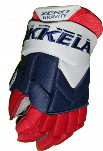 HOCKEY GLOVES VIKKELA White/Blue/Red