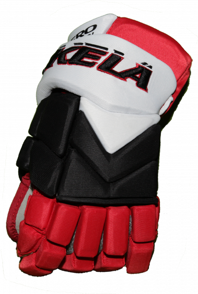 HOCKEY GLOVES VIKKELA White/Black/Red